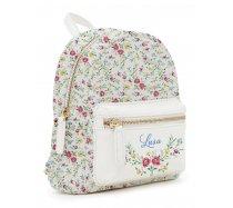 Lusa White Flowers kisméretű hátizsák
