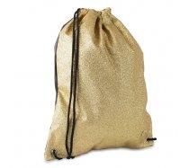 QC Sparkle tornazsák zsebbel, arany glitteres
