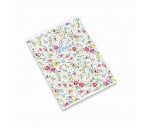 Ambar Lusa White Flowers füzet A/4 80 lapos vonalas