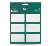 QC Sparkle füzetcímke, zöld