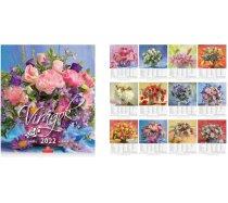 Falinaptár Virágok 30x34 cm