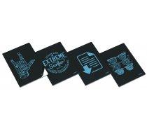 Clever füzet A/4 40 lapos kék, kockás